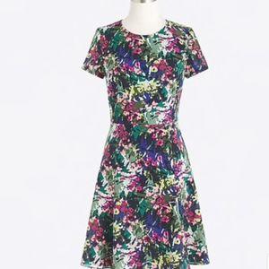 Printed flutter dress